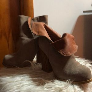 Light tan ankle boots